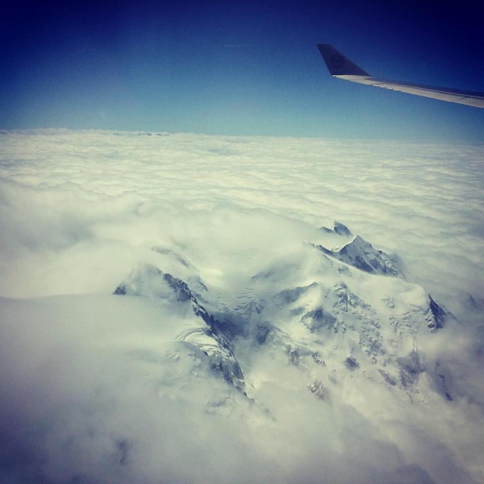 Le massif du Mont Blanc vu depuis l'avion