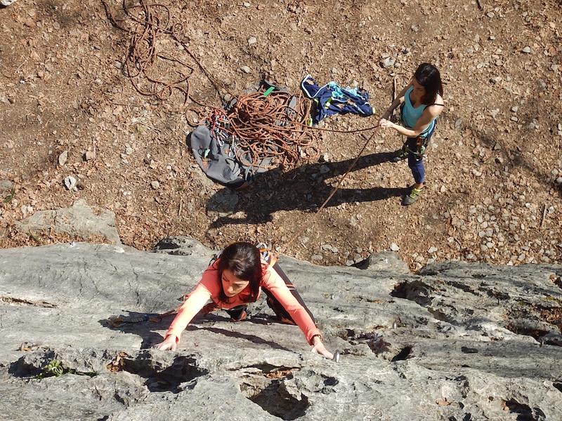 17 Mars 2017 – Escalade à la falaise d'Angon avec Daphné et Chloé