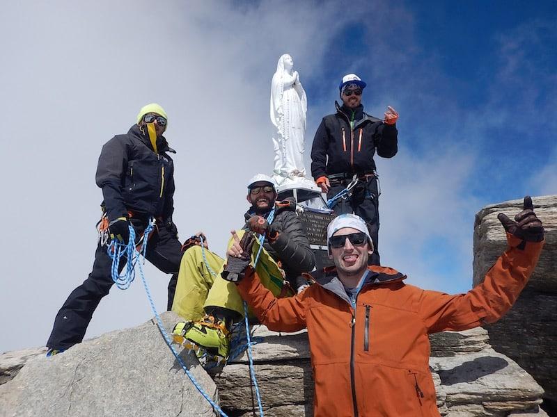 Au sommet du Grand Paradis en ski de randonnée