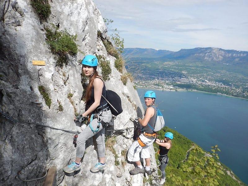 Via Ferrata Aix les Bains Chambery Rocher Cornillon