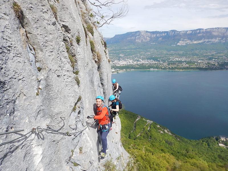 Tout savoir sur la Via Ferrata du Rocher de Cornillon – Aix les Bains