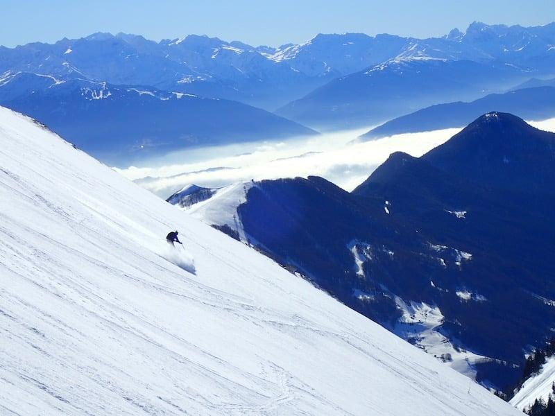 Ski de Randonnée : la Face Ouest du Mont Colombier dans les Bauges