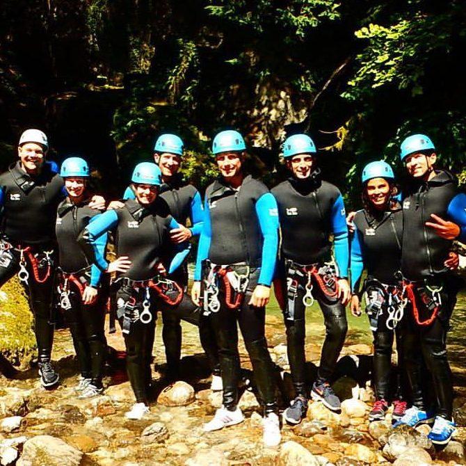 Un groupe sympa dans le canyon de Montmin