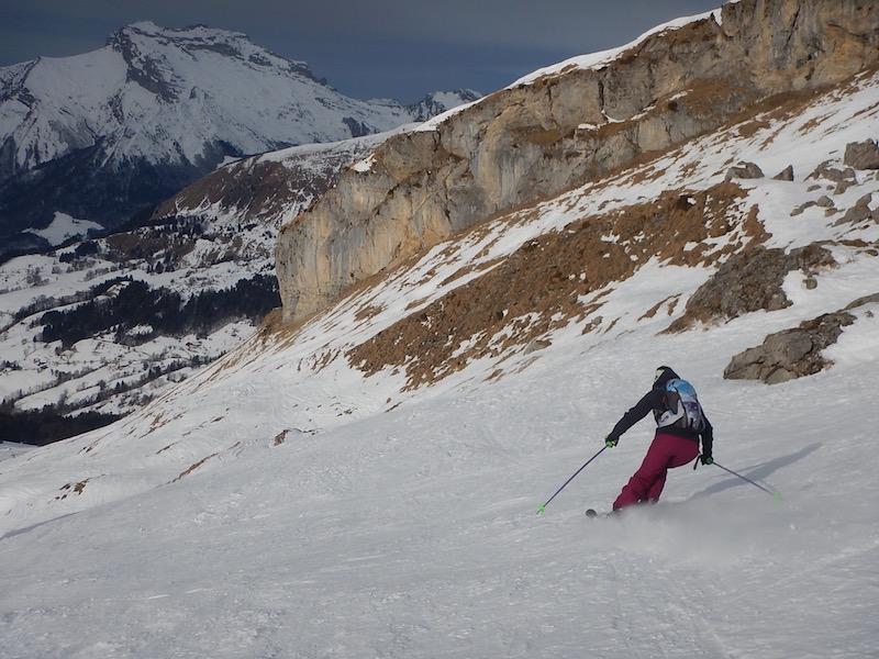 Ski de randonnée facile dans les Aravis – Col de Tulle
