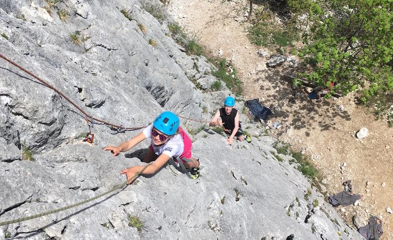 Escalade à la Culaz – Grand Bornand avec le Club Alpin de Faverges