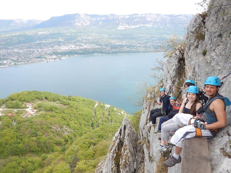 Via Ferrata Aix les Bains Chambery Rocher Cornillon 14