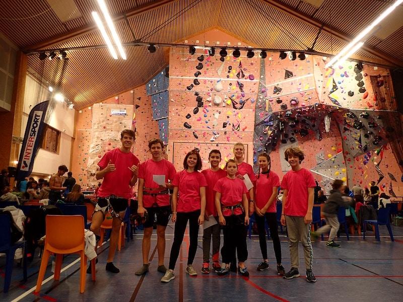 A la R'batte 2018 avec le groupe jeune escalade du Club Alpin d'Aix les Bains