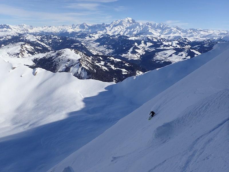 Ski au Mont Charvin par le couloir Nord Est