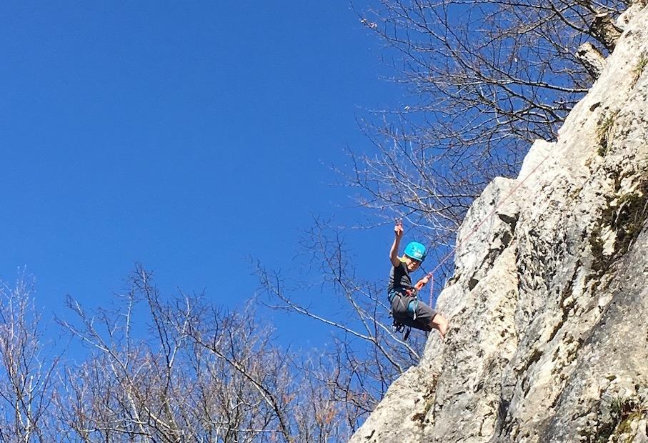 Escalade à la falaise de Choisy avec le Club Alpin de Faverges