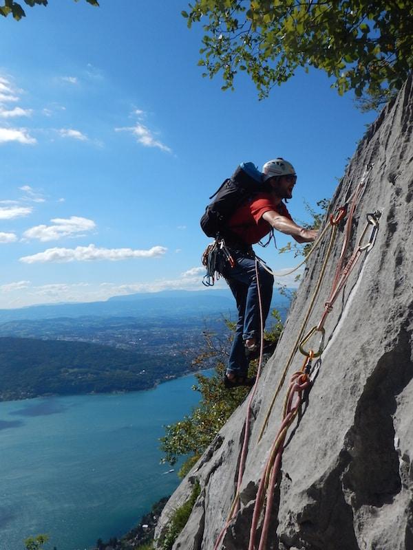 Sites escalade Annecy Grande Voie Zig Zag Mont Baron