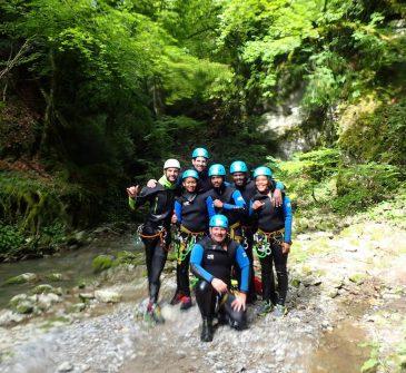 Canyoning Annecy Monté Médio Canyon découverte Angon 18