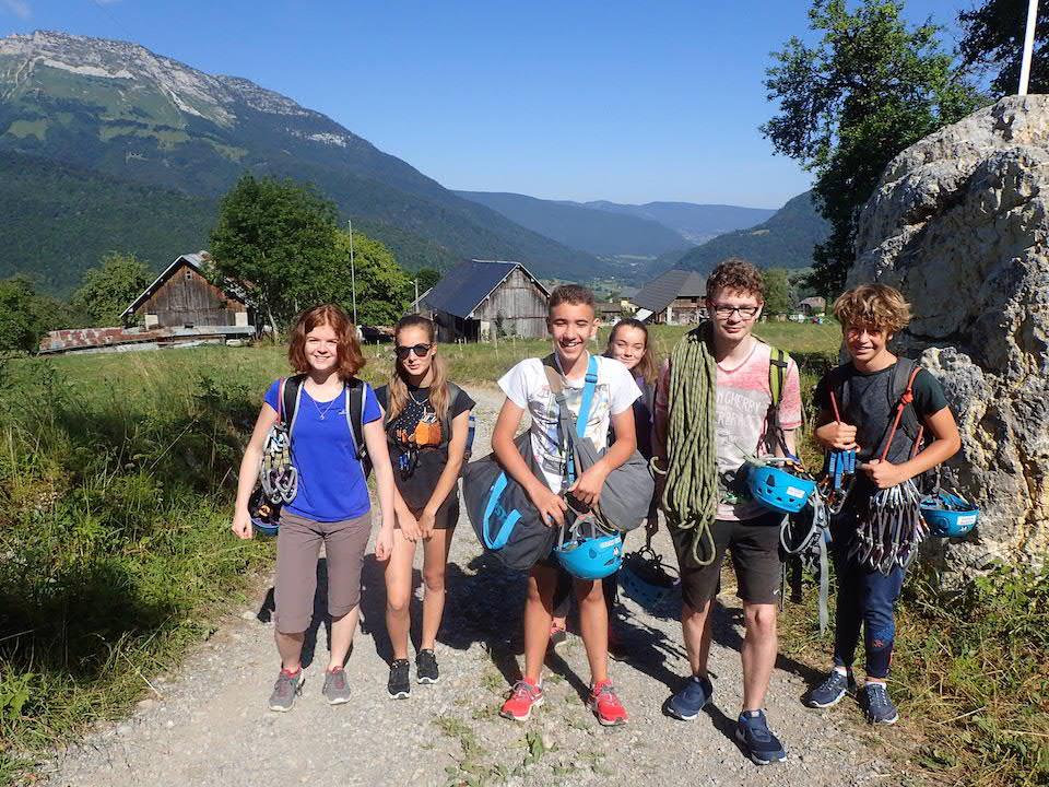 Escalade et Canyoning dans les Bauges avec le Club Alpin d'Aix les Bains