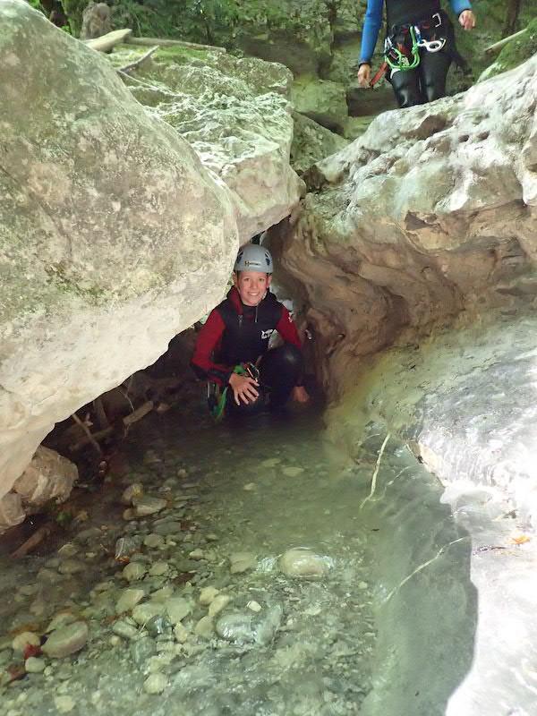 Canyoning en famille - A partir de quel age peut on faire du canyoning