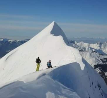 Ski de randonnée Combe de Tardevant Cime Ambrevetta