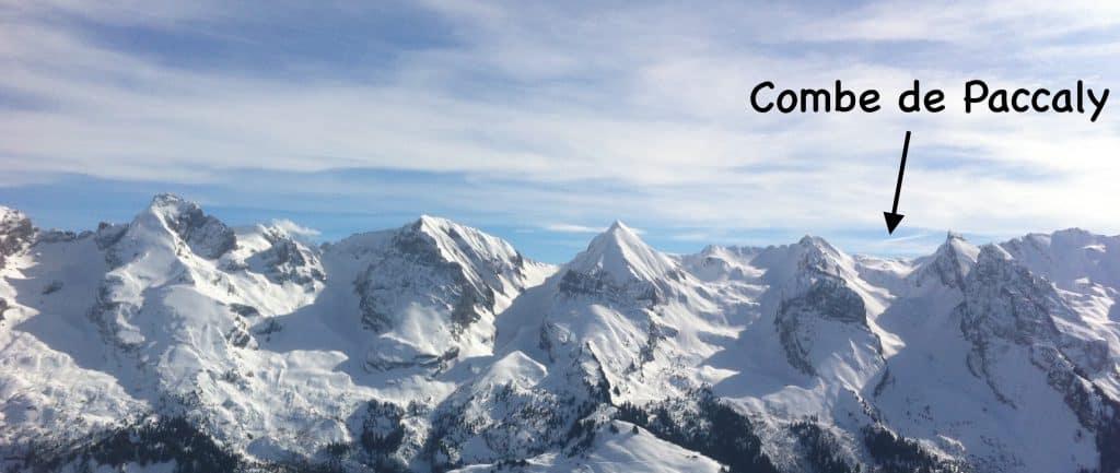 Ski de randonnée aravis combe de Paccaly 11