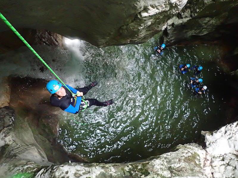 Ou faire du canyoning à Annecy - Le canyon du Pont du Diable