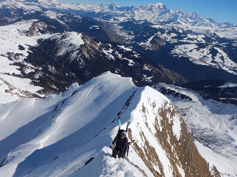Ou faire du ski de randonnée autour d'Annecy? Le Charvin