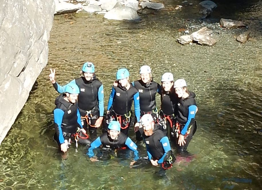 Le canyoning en Italie : Canyon de Chalamy