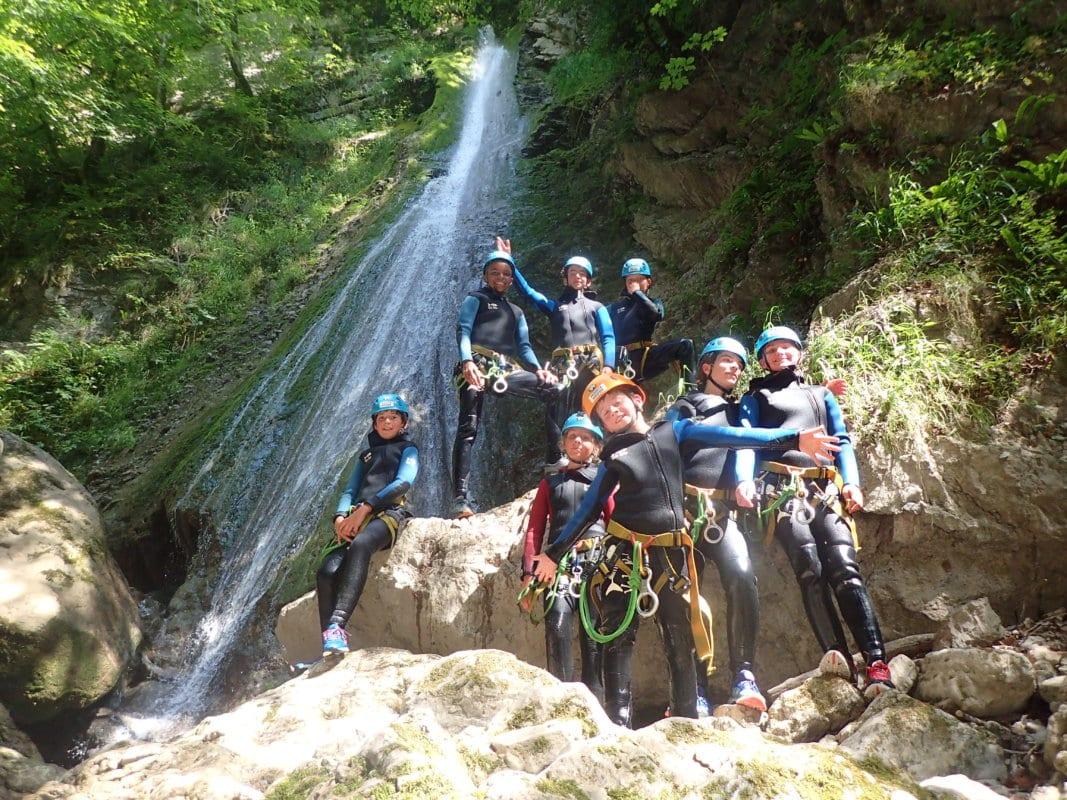 Le nouveau stage Multi Activités à Annecy pour les ados Escalade - Canyoning - Via Ferrata