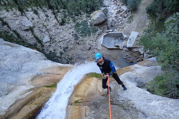 Bertrand dans le canyon des Ecouges
