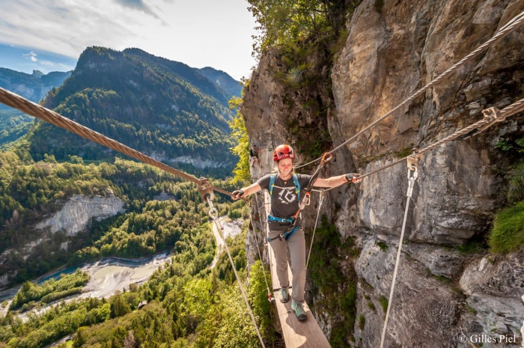 Via Ferrata Haute Savoie Sixt Fer a Cheval Monte Medio © Gilles Piel 2