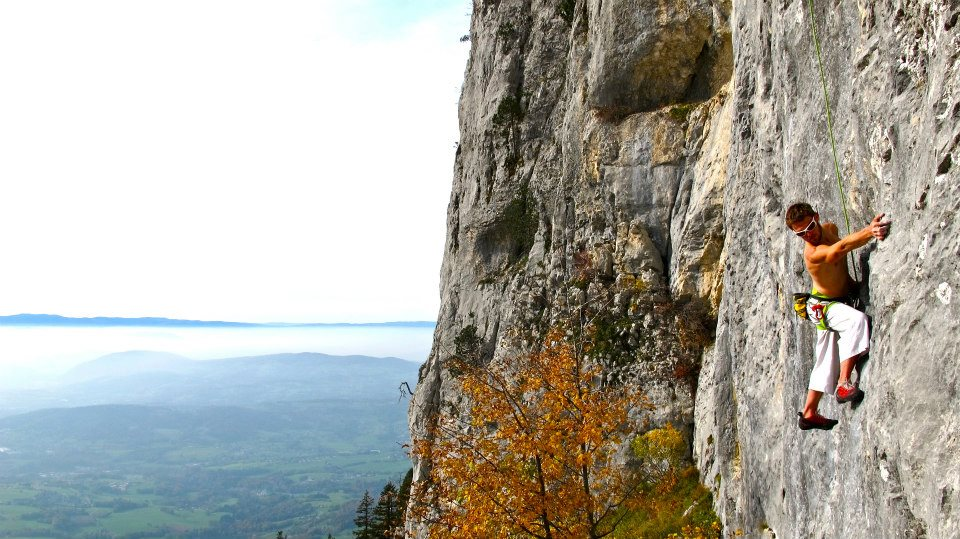 Escalade au Rocher du Béard