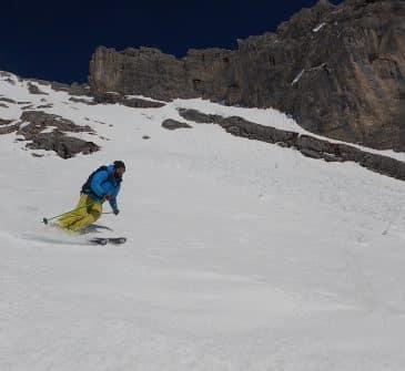 Ski de randonnée : Face Sud de la Pointe Blanche