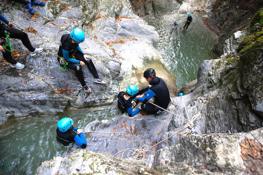 canyoning parapente annecy