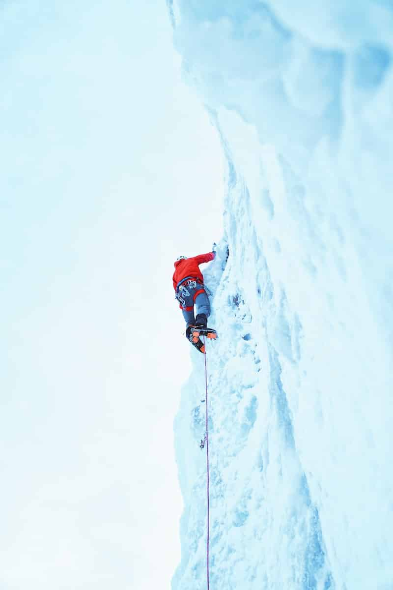 Cascade de glace Monte Medio